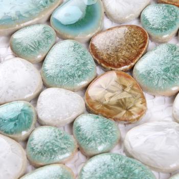 wholesales porcelain pebble mosaic tiles design porcelain tile flooring kitchen backsplash 7878