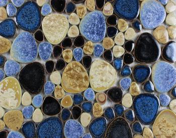 porcelain pebble mosaic tiles bathroom wall stickers glazed ceramic porcelain tile flooring kitchen backsplash jh6655