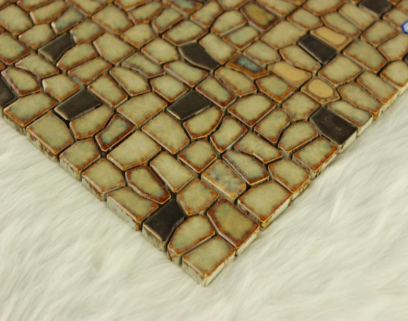 Wholesale Porcelain Irregular Mosaic Tiles Design Porcelain Tile