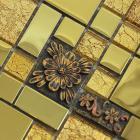 glass mosaic tiles blacksplash crystal mosaic tile bathroom plated wall colors stickersgsa03
