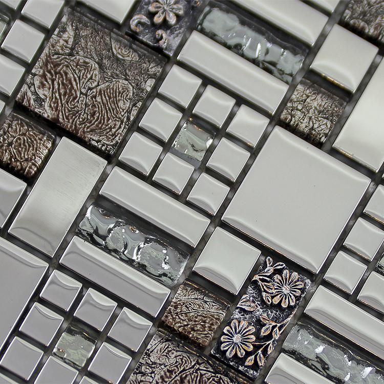 Glass mosaic tiles crystal diamond tile bathroom wall for Bathroom tile stickers