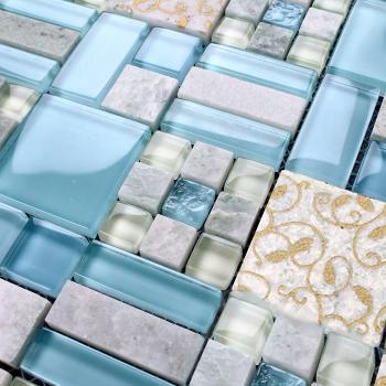 crystal mosaic tile backsplash kitchen design glass & stone blend mosaic marble wall tiles 8837