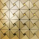 metallic mosaic tile backsplash triangle brushed diamond aluminum stainless steel blend mh-asj-003