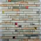metallic mosaic tile mix strip brushed aluminum metal decoration dining room plated mosaic mh-1598-1