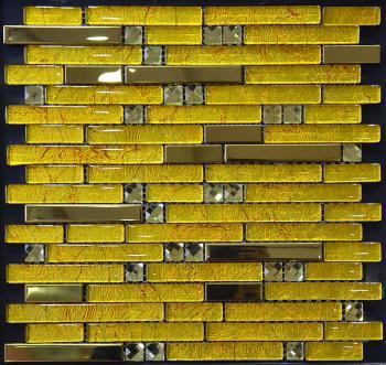 metallic mosaic tile diamond strip brush aluminum metal decoration dining room plated mosaic yb2067