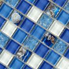 glass mosaic tiles melted shell crystal backsplash tile bathroom wall tiles iridescent tile s102