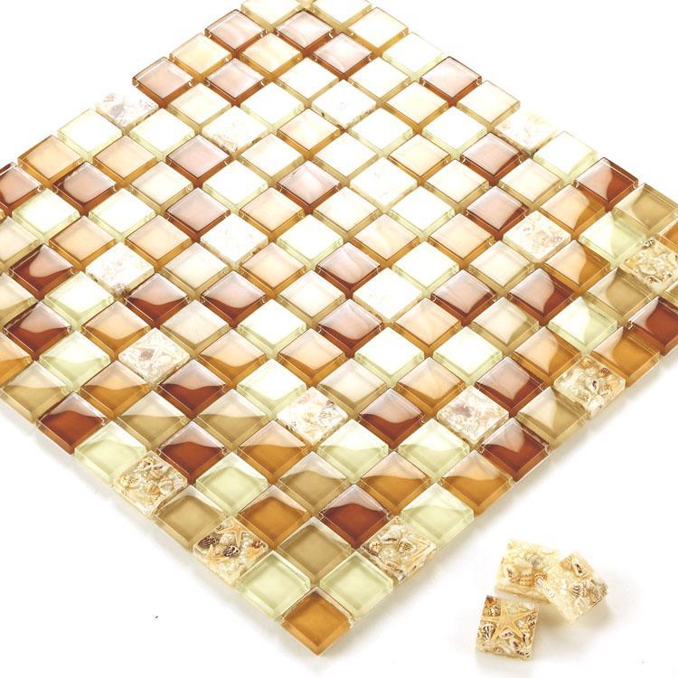 glass mosaic tiles melted shell crystal backsplash tile. Black Bedroom Furniture Sets. Home Design Ideas