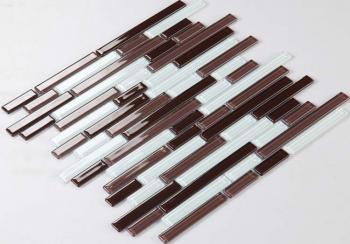glass mosaic tiles crystal cheap fashion tile bathroom wall strip stickers kitchen backsplash g4002
