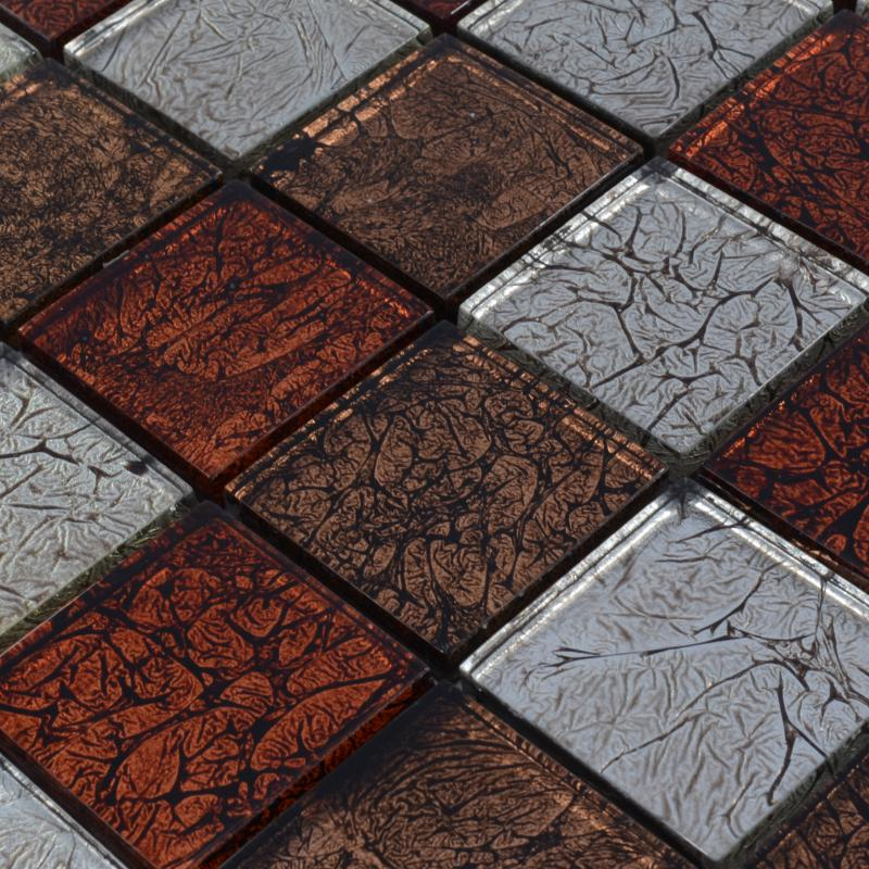 Crystal glass backsplash tiles maple leaf glass mosaic flooring zz009 - Mosaic kitchen ...