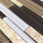 natural stone with crystal mosaic tile sheet marble backsplash wall sticker strip interlocking sg127