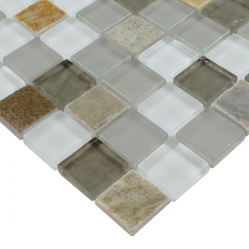 glass mosaic tile smoky mountain square tiles with marble backsplash