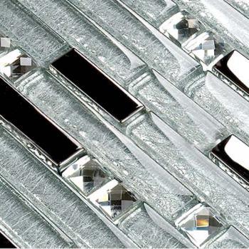 crystal glass plated mosaic tiles washroom backsplash bathroom mirror diamond wall floor design