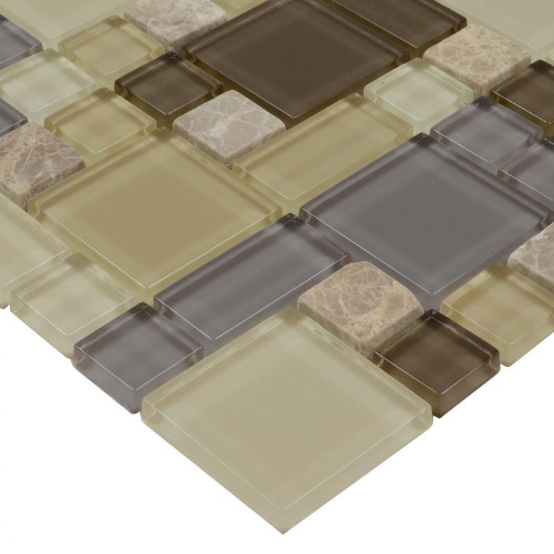 backsplash kitchen design glass stone blend mosaic marble wall tiles