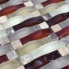 crystal mosaic tile backsplash kitchen design glass & stone blend mosaic marble wall tiles sg135