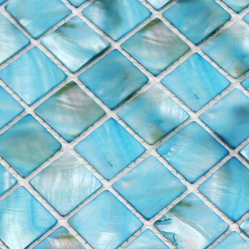 shell tiles 100 blue seashell mosaic mother of pearl tiles kitchen ba. Black Bedroom Furniture Sets. Home Design Ideas