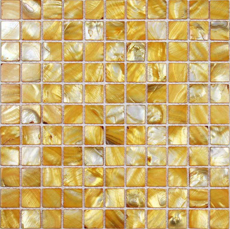 Seashell Backsplash Tile: Shell Tiles 100% Yellow Seashell Mosaic Mother Of Pearl