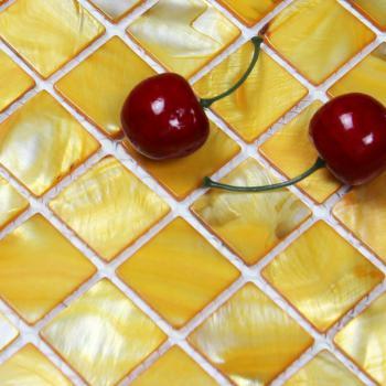 shell tiles 100% yellow seashell mosaic mother of pearl tiles kitchen backsplash tile design bk007