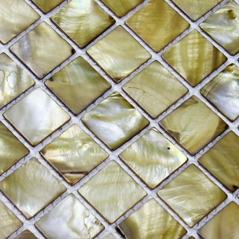 shell tiles 100 gold seashell mosaic mother of pearl tiles kitchen ba. Black Bedroom Furniture Sets. Home Design Ideas
