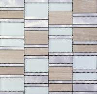 stone glass mosaic tile stainless steel metal wall tiles marble tile metallic mosaic tile mg011