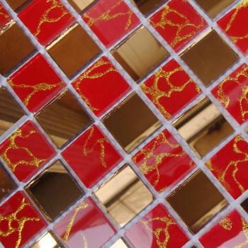 mosaic tile crystal glass backsplash dining room design bathroom wall floor gold mirror tiles mosa13