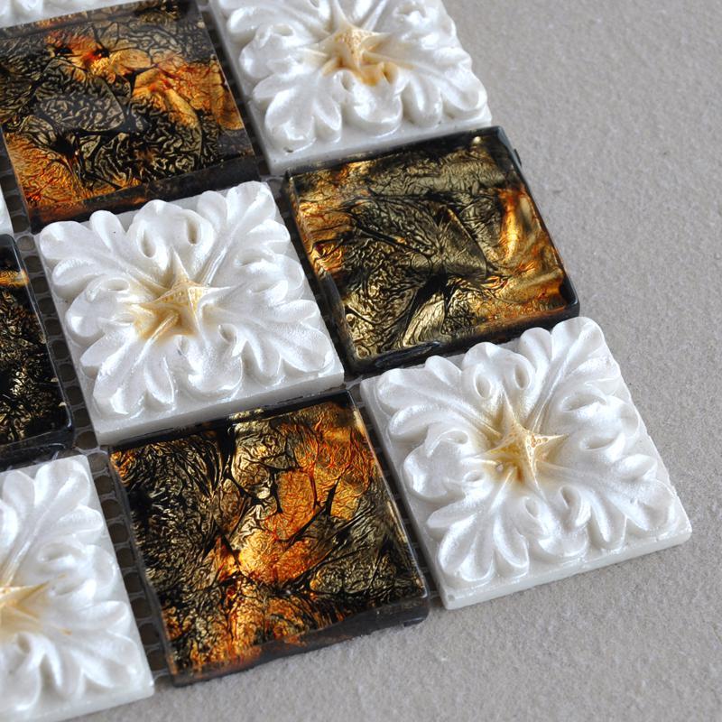 wholesale porcelain glass tile wall backsplash fireplace crystal art f. Black Bedroom Furniture Sets. Home Design Ideas