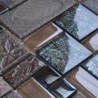 porcelain glass tile wall backsplash crystal arts design mosaic tiles kitchen wall crackle vg001
