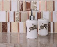 stone glass mosaic tile stainless steel metal wall tiles marble tile metallic mosaic tile sd12