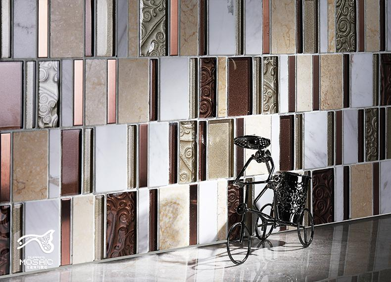 Metal Wall Tiles stone glass mosaic tile stainless steel metal wall tiles sd12 | homin