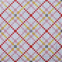 vitreous mosaic tile pattern glazed crystal glass backsplash kitchen design art  wall tiles s1509-1
