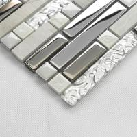 natural stone with crystal mosaic tile sheet marble backsplash wall sticker strip interlocking 9831