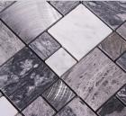 stone mosaic tile square brushed aluminum patterns washroom wall marble backsplash metal floor tiles 9481