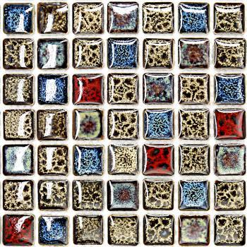 wholesales porcelain square mosaic tiles design porcelain tile flooring kitchen backsplash gm02