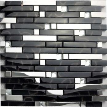 glass tile backsplash interlocking metallic kitchen mosaic diamonds stainless steel tiles with base 2-33 crystal metal mosaics