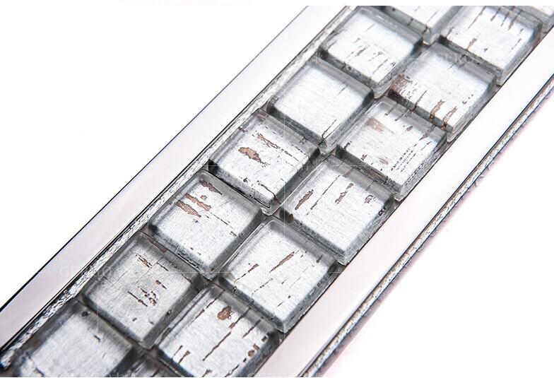 Crystal Gl Mosaic Tile Wall Liner Kitchen Backsplash Stickers Decoration Bathroom Mirror Border G8