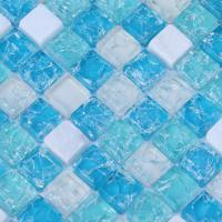 stone glass mosaic tiles blue ice crack crystal backsplash tile cream white marble mosaics sdy001