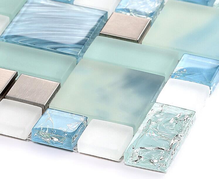 Metallic Backsplash Tiles Brown 304 Stainless Steel Sheet Mh10