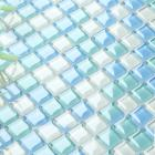 crystal glass tile sheets for shower wall stickers blue and white pool mosaic tiles kitchen backsplash b049