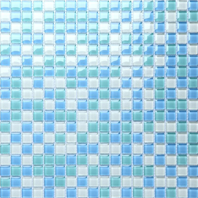 Crystal glass tile shower wall stickers swimming pool b049 for Swimming pool wall tiles