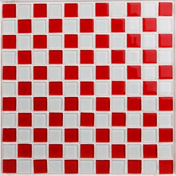 glass mosaic tile sheets kitchen backsplash cheap 3031 red and white  crystal bathroom wall tiles