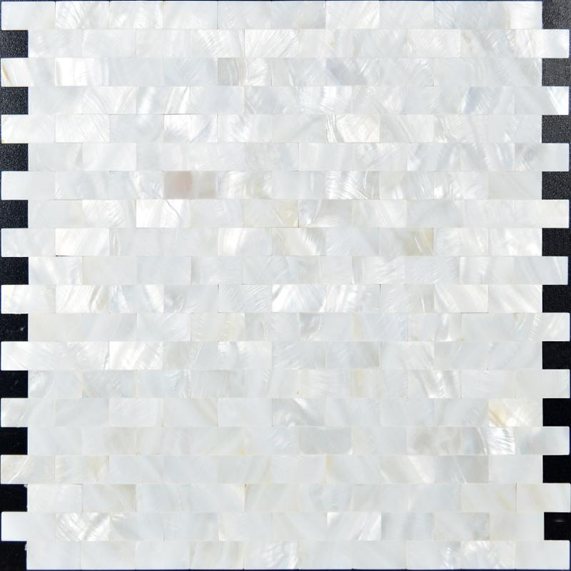 Mother Of Pearl Tiles Subway Shell Mosaic Tile Kitchen